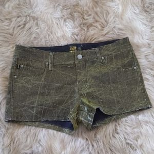 Tripp NYC Daang Goodman Iridescent Shorts  gold